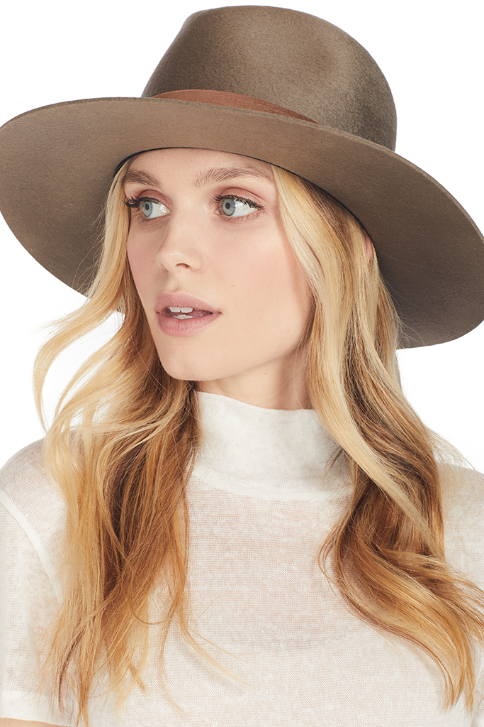 12d00041ea18dc Alara Hat (Dark Sand) | Janessa Leone | Shopatmilk.com – Milk Boutique