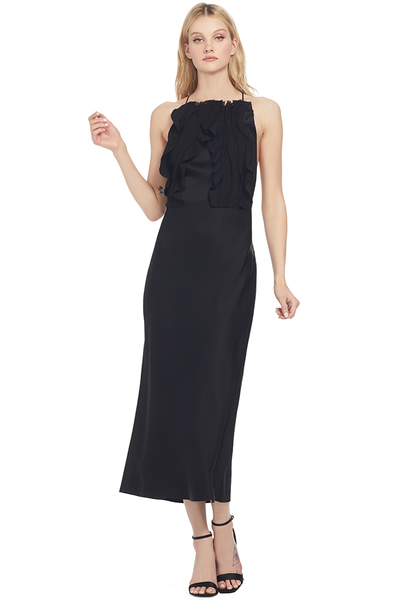 Jason Wu Collection Crepe Back Satin Ribbon Trimmed Cocktail Dress (Black)