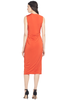 Jason Wu Collection V Neck Draped Fluid Jersey Dress (Papaya)
