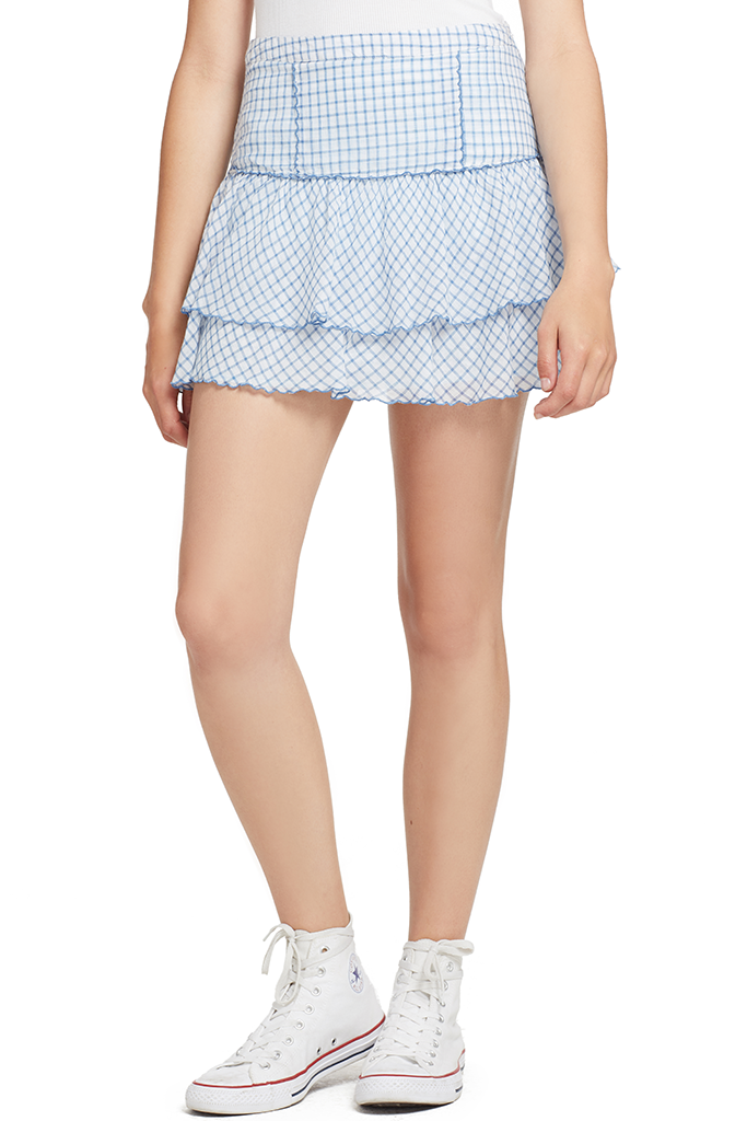 LOVESHACKFANCY Amy Skirt (Caspian Blue)