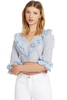 LOVESHACKFANCY Blake Top (Caspian Blue)