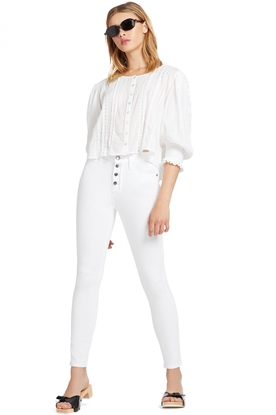 Loveshackfancy Cailin Top (White)