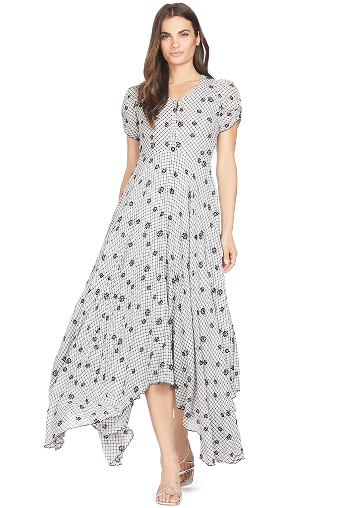 Loveshackfancy Coralie Dress (Charcoal)