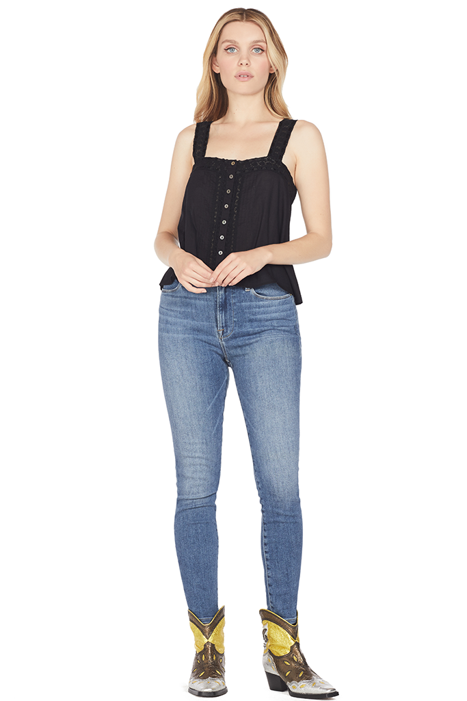 Loveshackfancy Daisy Top (Black)
