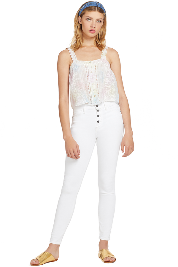 Loveshackfancy Daisy Top (Multi Tie Dye)