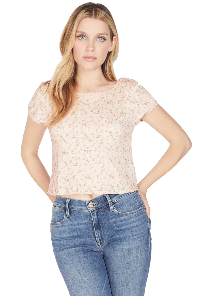 Loveshackfancy Heidi Top (Pink Parfait)