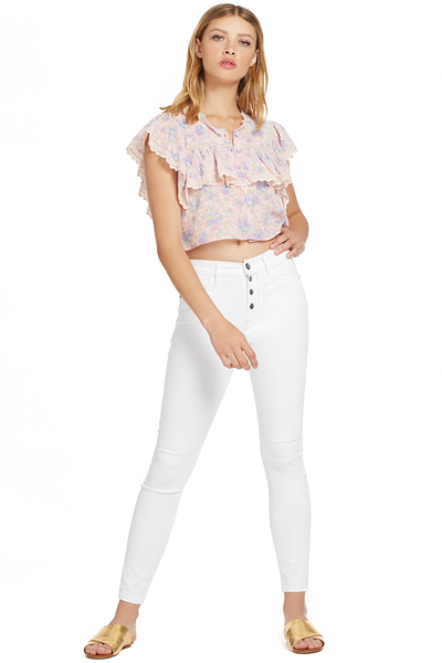 Loveshackfancy Laurel Top (Pink Garden)