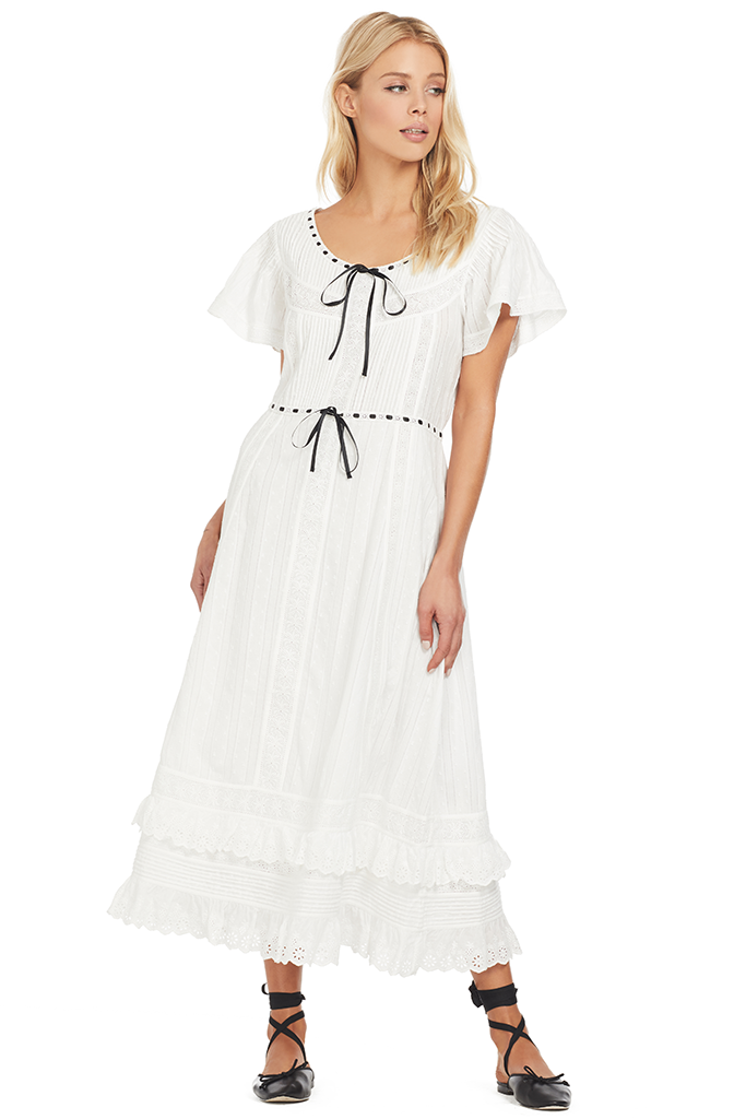Loveshackfancy Madeline Dress (White)