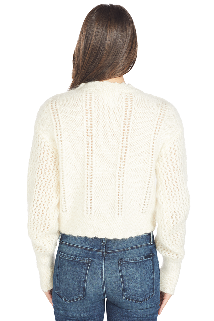 Loveshackfancy Persephone Sweater (Cream Puff)