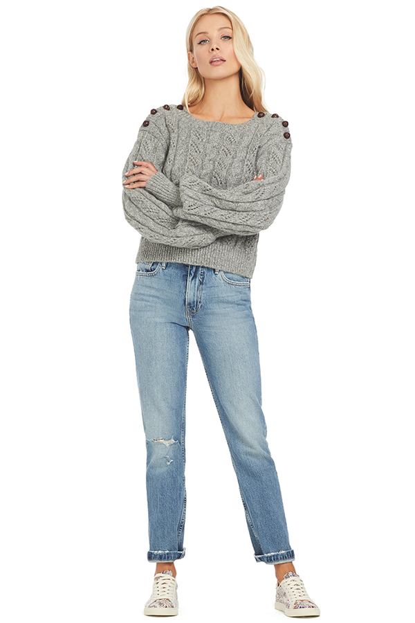 Loveshackfancy Persephone Sweater (Silver)