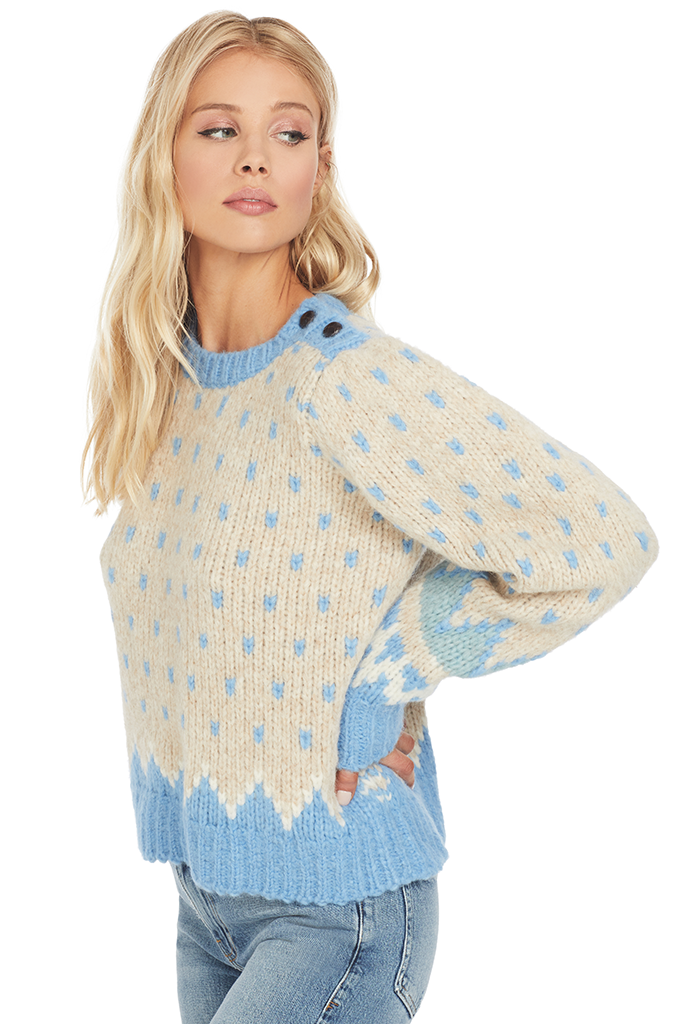 Loveshackfancy Rosie Sweater (Heather Oatmeal)