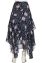 LoveShackFancy Alex Skirt Blue Floral