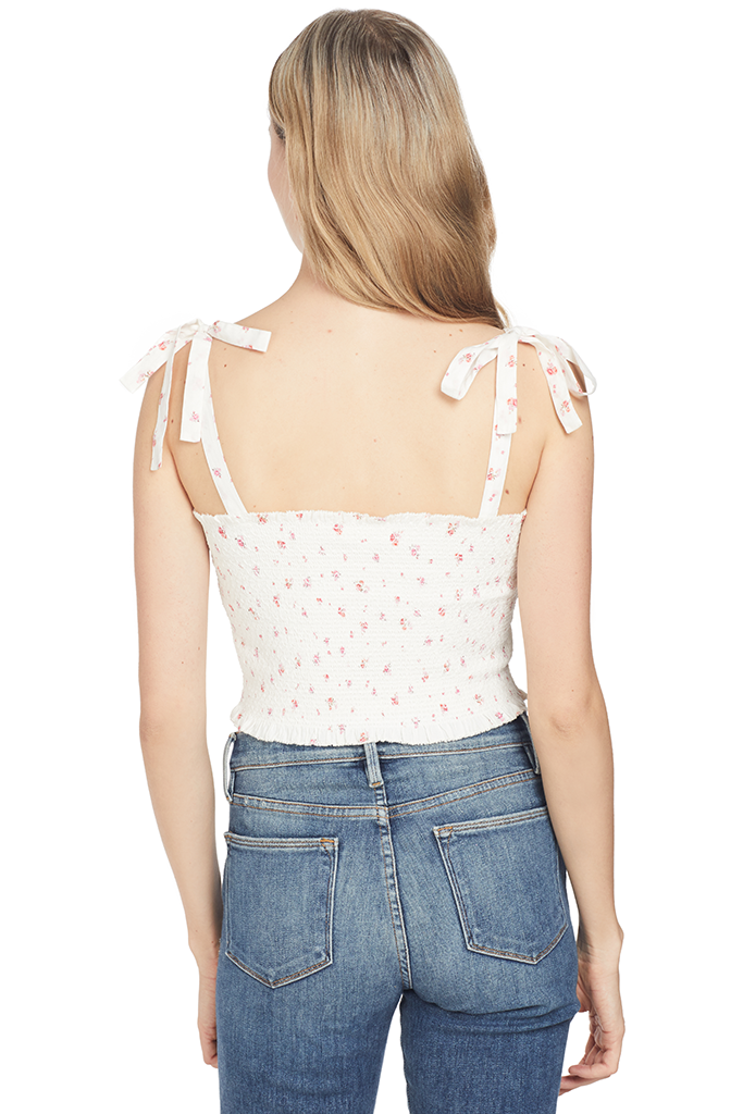 LoveShackFancy Gracie Top White Floral
