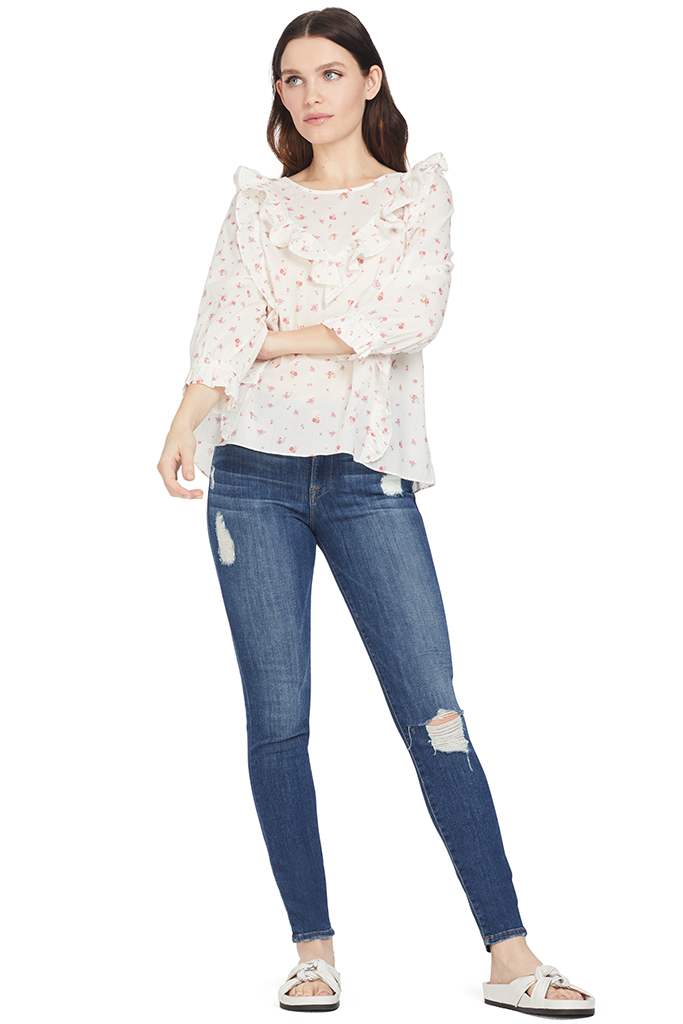 Loveshackfancy Wren Top White floral
