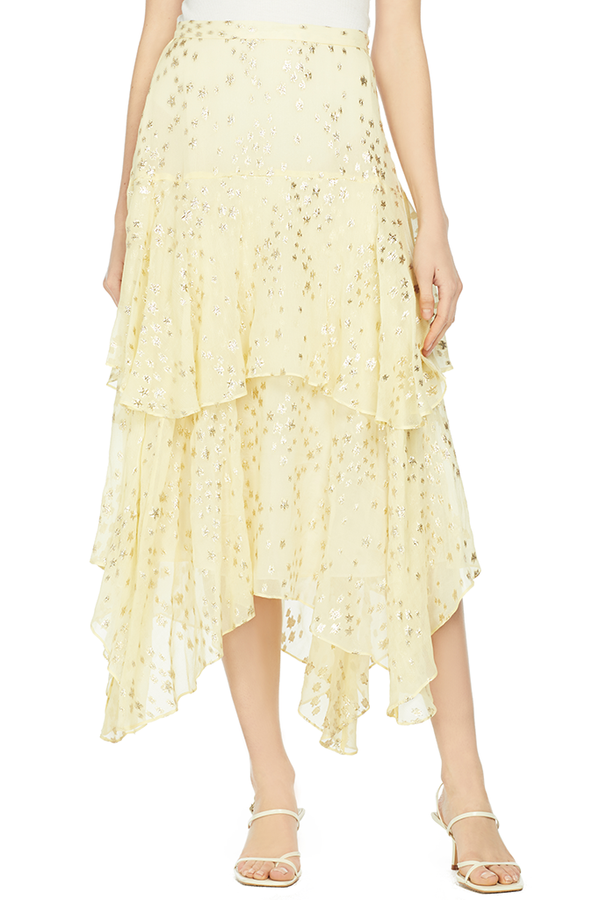 LoveShackFancy Alex Skirt (Sunflower)