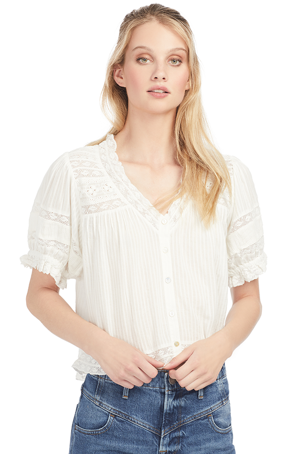 Loveshackfancy Arabella Top - Milk Boutique