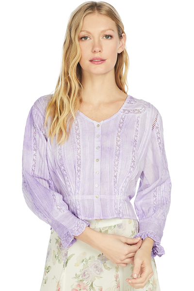 LoveShackFancy Aubrielle Top (Lavendar)