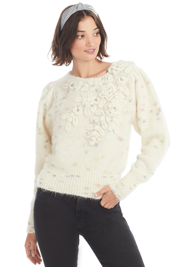 Loveshackfancy Claudette Pullover Milk Boutique