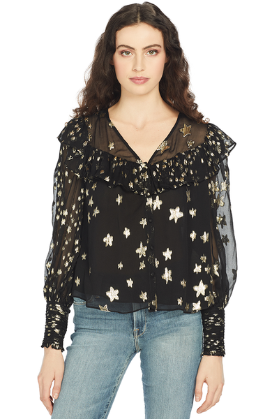 LoveShackFancy - Harleigh Top (Black)