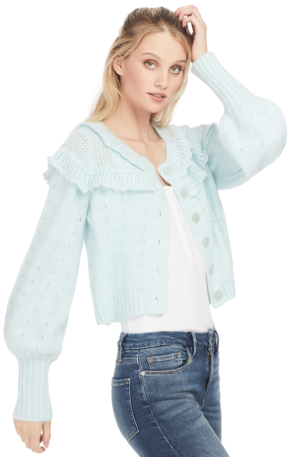 Loveshackfancy Hayden Cropped Cardigan - Shopatmilk.com