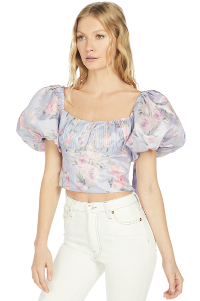 LoveShackFancy Jansen Top (Hibiscus)
