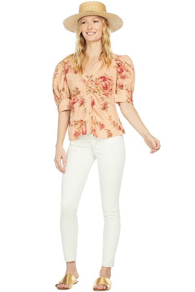 LoveShackFancy Jules Top (Pink Lemonade)
