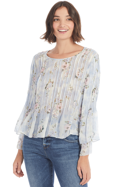 Loveshackfancy Paulette Top Water Petals Milk Boutique