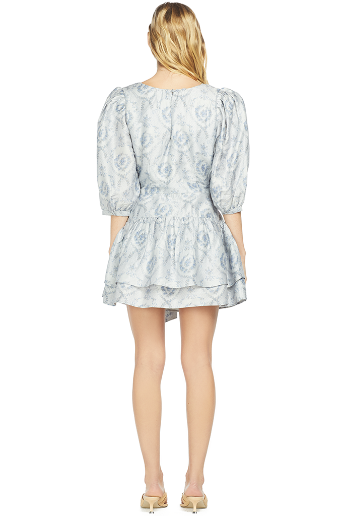LoveShackFancy Perla Dress (Blue Haze)