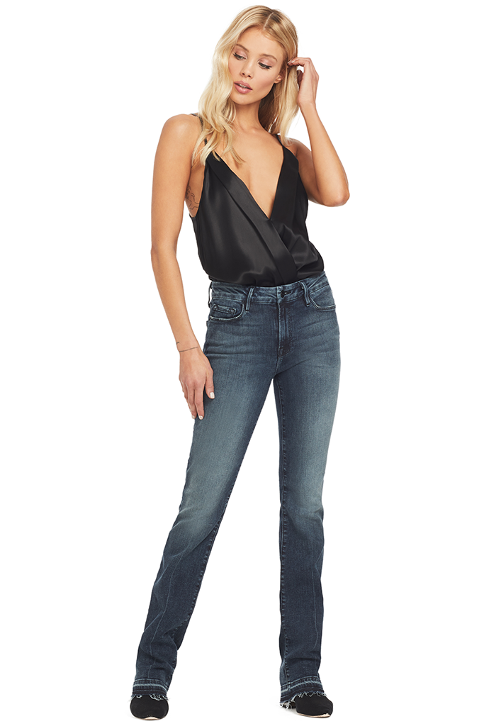 Michelle Mason Cami Wrap Bodysuit (Black)