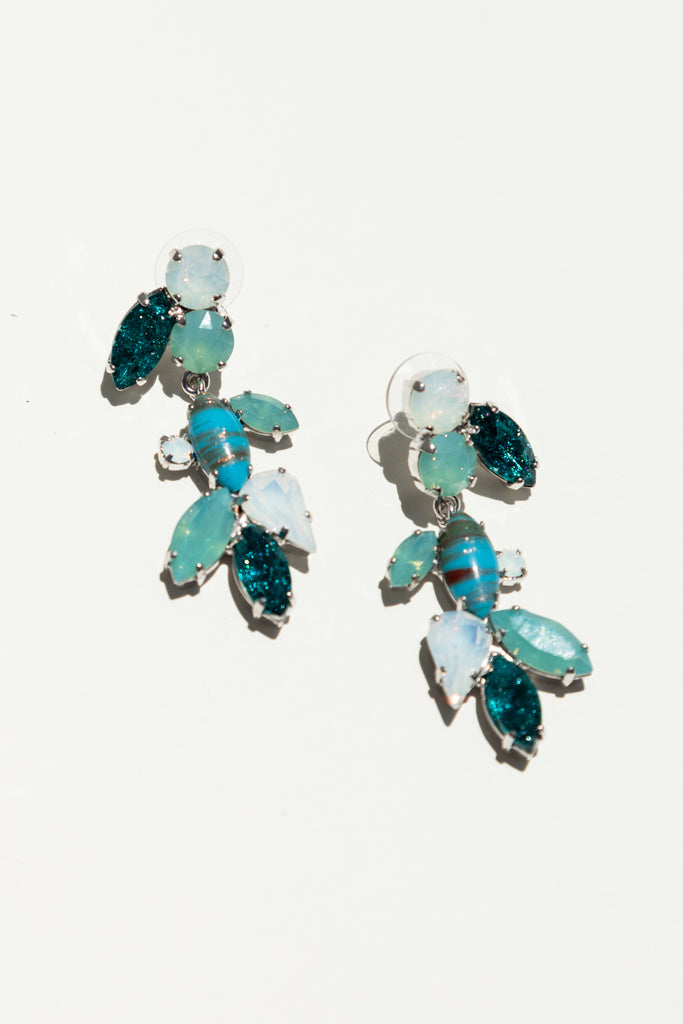 Milk Boutique Isla Chandelier Earrings Turquoise