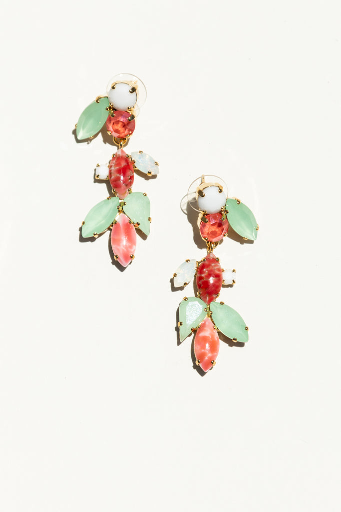 Milk Boutique Isla Chandelier Earrings Tutti Frutti Women's Jewelry