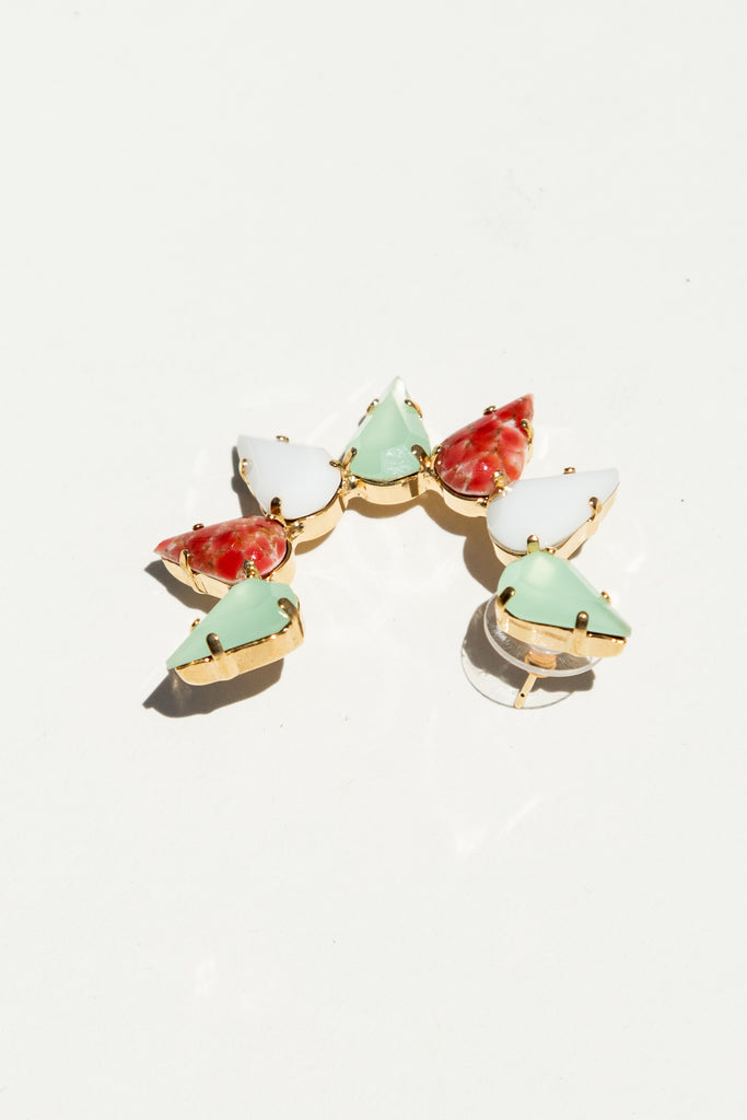 Milk Boutique Iona Crescent Earrings Tutti Frutti