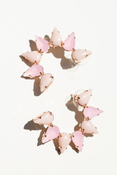 Milk Boutique Iona Crescent Earring Rose