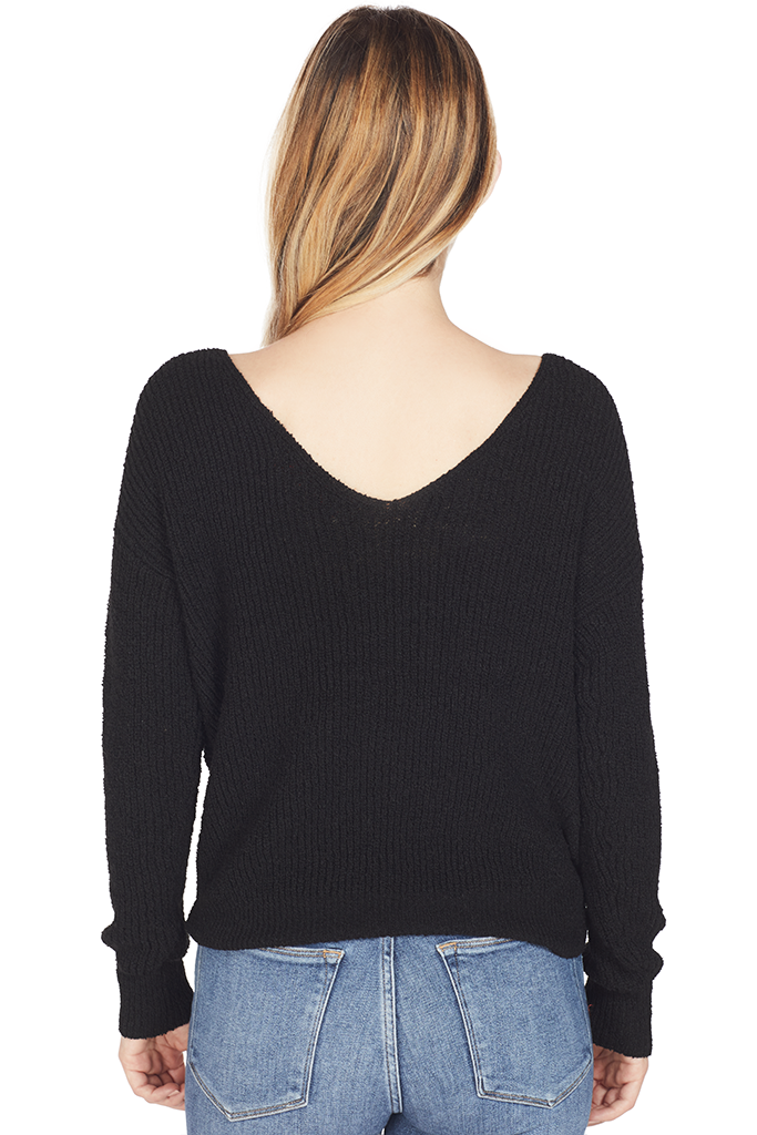 Milk Crossover Sweater (Black)