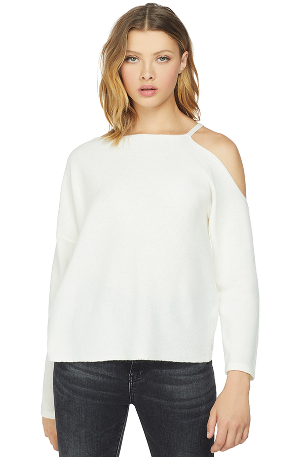 Michelle Mason Asymmetrical Sweater Ivory
