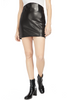Michelle Mason Corset Leather Mini Skirt Black