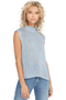 Mason by Michelle Mason Ice Cotton Sequin Yarn Drape Back Tank
