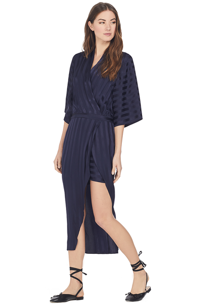 Mason by Michelle Mason Kimono Sleeve Dress (Black Currant)