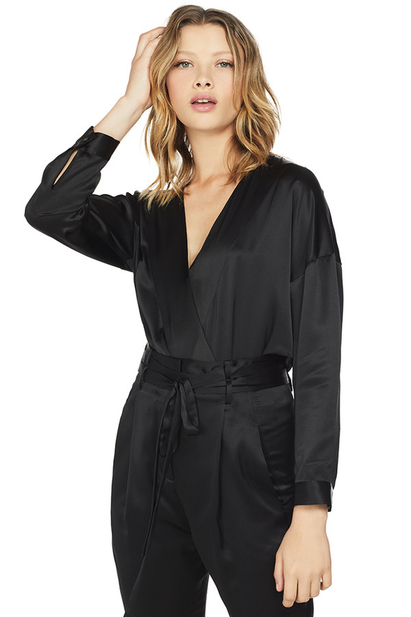 Oversized Blouse Bodysuit Black Michelle mason