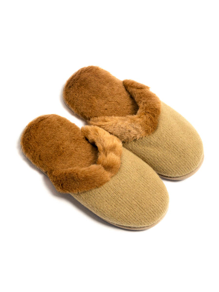 Cashmere Slippers (Camel)