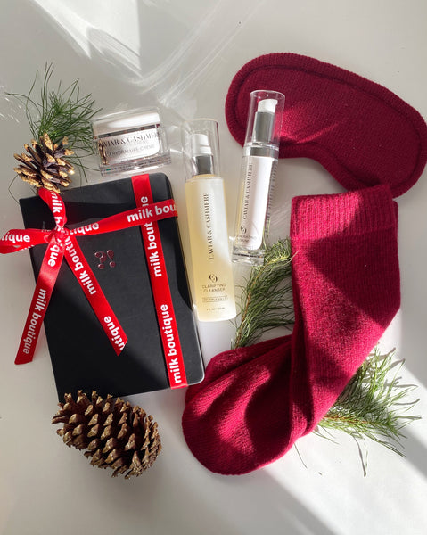 Milk Boutique x Caviar and Cashmere Holiday Gift Set