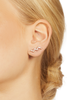 14K Rose Gold Zig Zag Diamond Ear Crawlers .31ct and .27ct