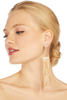 18K Half Circle Gold Fringe Earrings