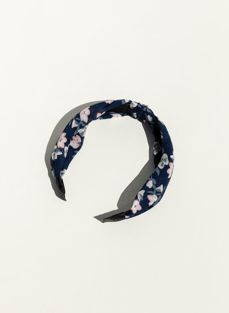 Milk Boutique Floral headband Navy Designer Headband