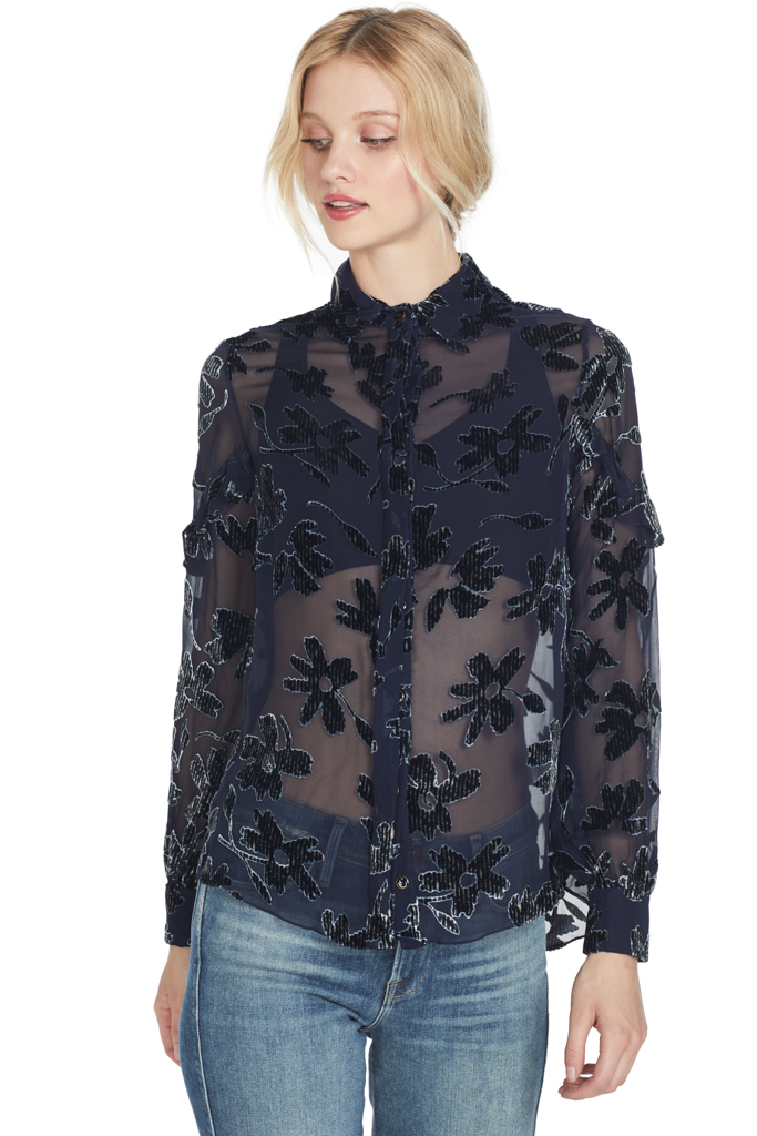 Saloni Myra B Top (Navy Daisy)