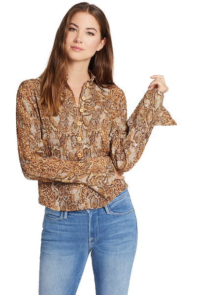 Nanushka Alena Shirt (Brown Snake)