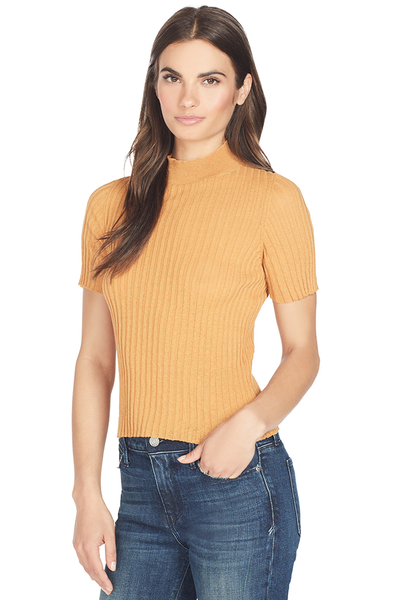 Nanushka Stripe Knit Crew (Burnt Orange)