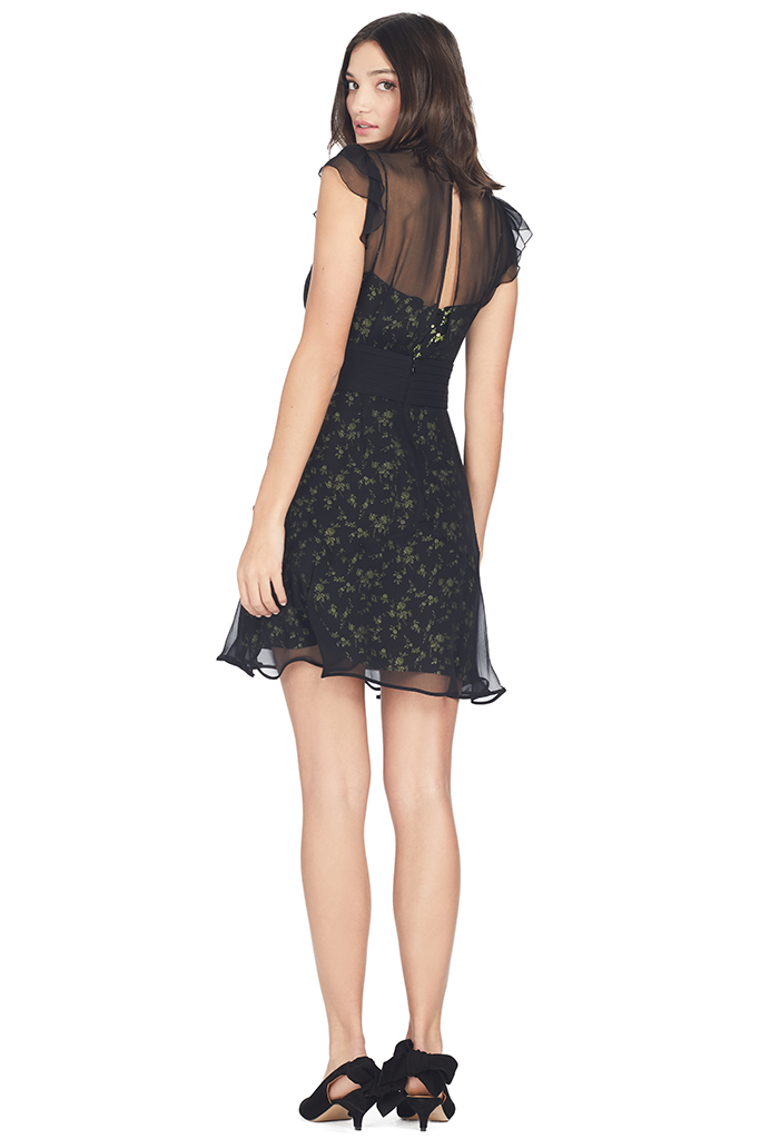 Abito Dress Floral Green Slip