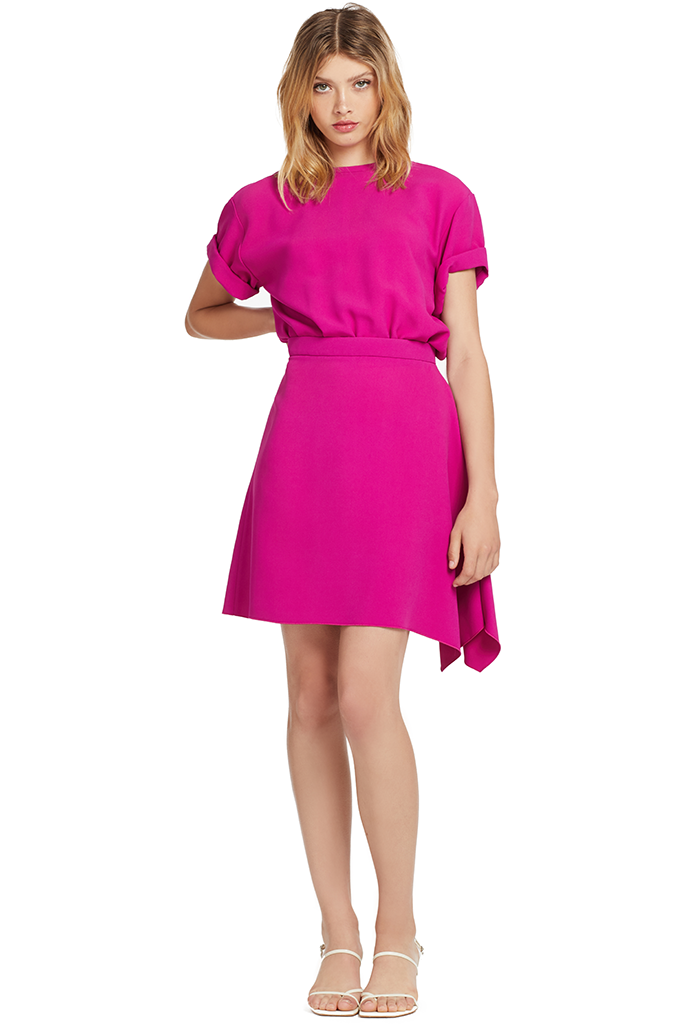 Numero Ventuno Tie Back Mini Dress (Fuxia)