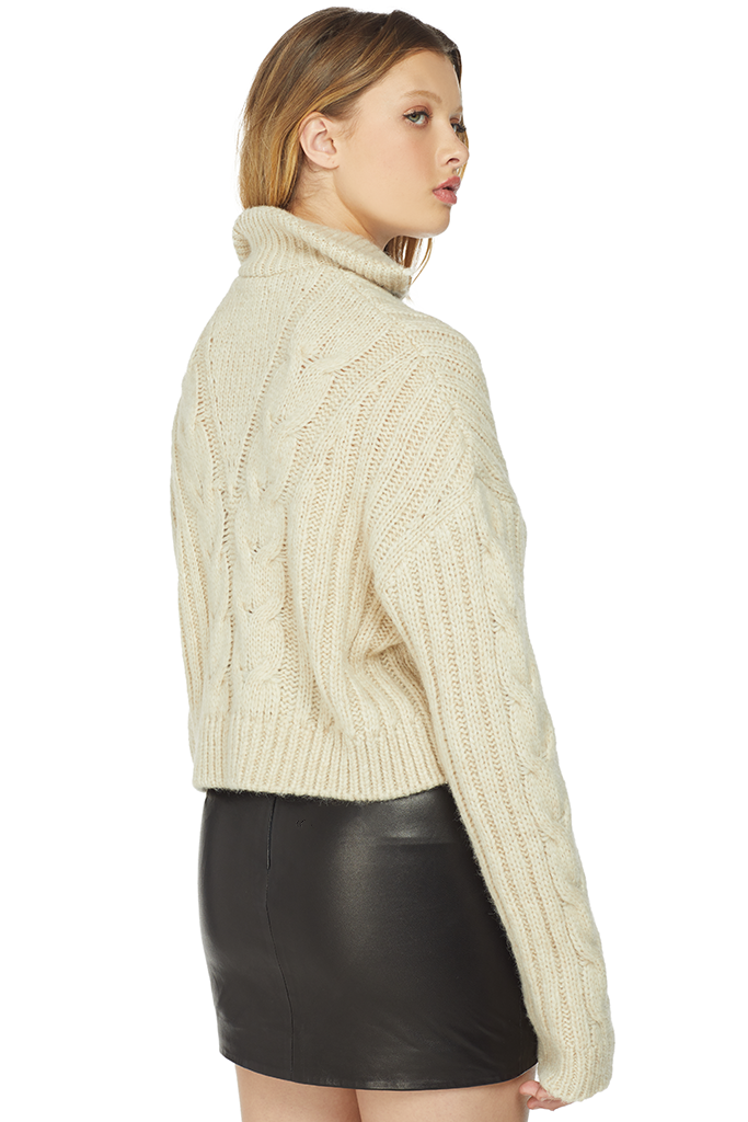 Nanushka Cropped Cable Knit Sweater